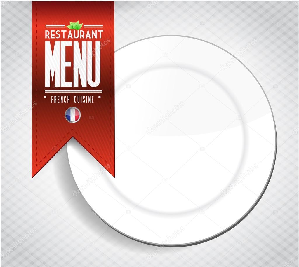 Französisch Restaurant Menü Textur banner — Stockfoto © alexmillos ...