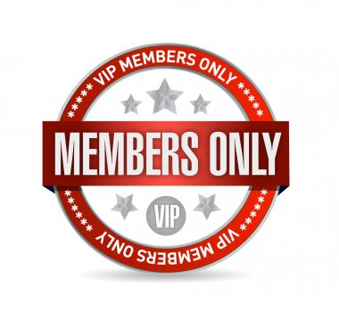 Members only. VIP seal illustration design
