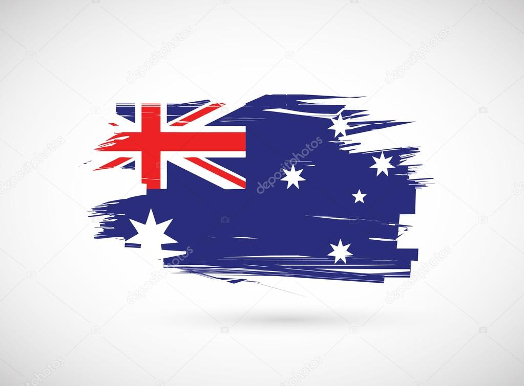 grunge ink australian flag illustration