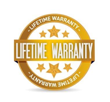 lifetime warranty seal stamp illustration design
