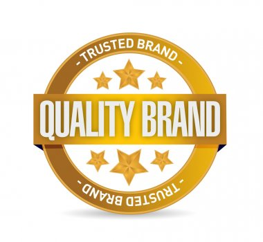 quality brand seal stamp illustration design