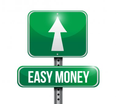 easy money road sign illustration design