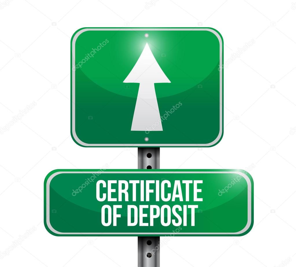 Certificate of deposit road sign illustrations stock photo certificate of deposit road sign illustrations design over white photo by alexmillos xflitez Images