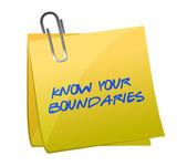 know your boundaries. illustration design