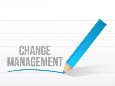 change management written over a notepad paper