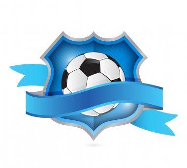 soccer shield seal illustration design