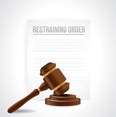 restraining order documents. illustration design