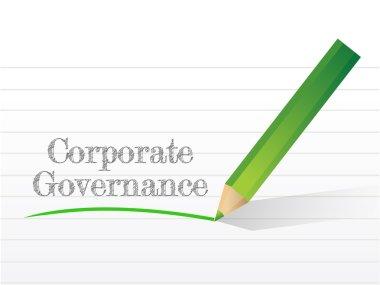corporate governance message written