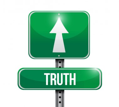 truth road sign illustration design