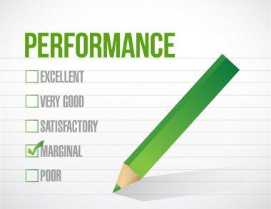 Marginal performance review illustration design