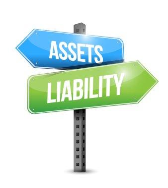 Assets liability road sign illustration design