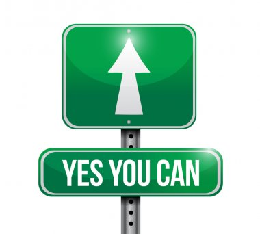 yes you can road sign illustration design