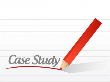 case study written on a white paper