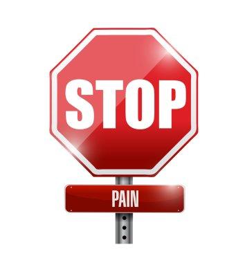 pain road sign illustration design