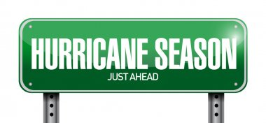 hurricane season just ahead road illustration