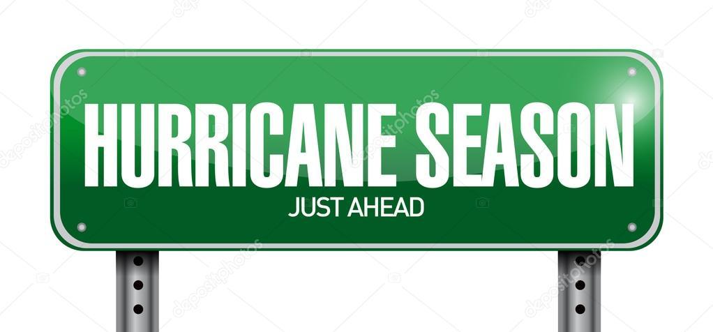 hurricane season just ahead road illustration