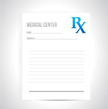 medical prescription illustration design
