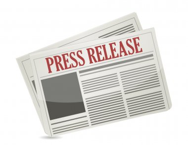 press release newspaper illustration design