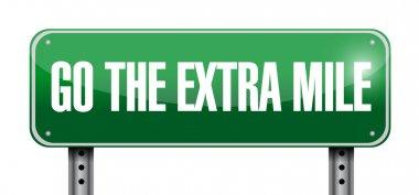 go the extra mile road sign illustration design