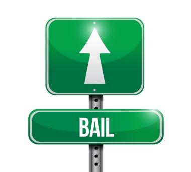 bail road sign illustration design