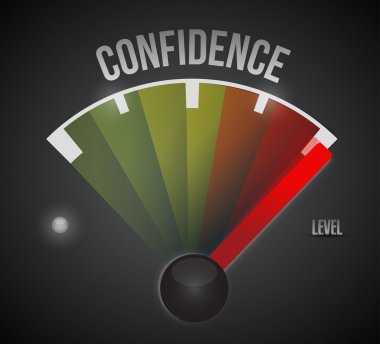 confidence level measure meter from low to high