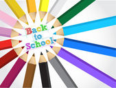 zpátky do školy barvy nastavené ilustrace design
