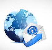 kontaktujte nás síťové komunikace ilustrace