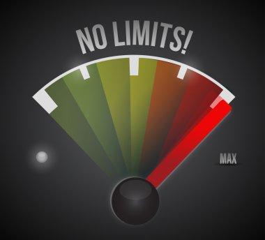no limits speedometer illustration design