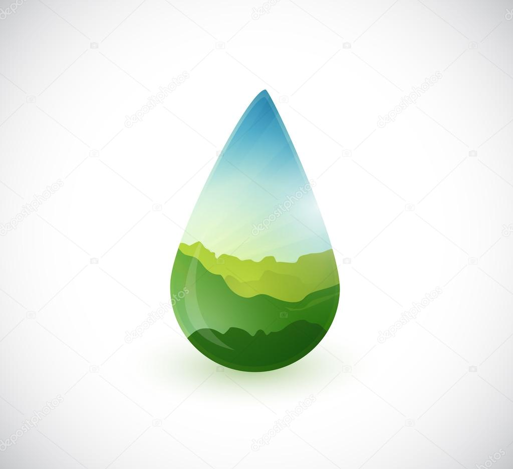water drop landscape info graphics illustration