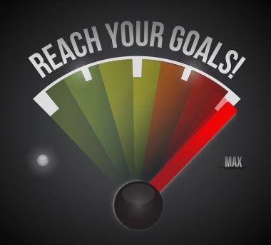 reach your goals speedometer illustration