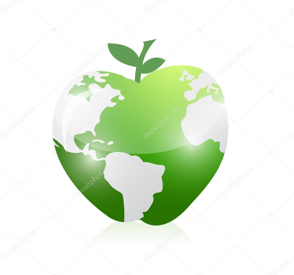 Green world map apple illustration design stock photo alexmillos green world map apple illustration design stock photo gumiabroncs Gallery