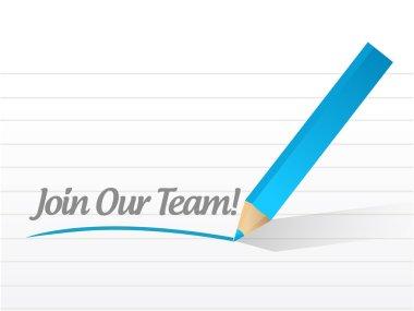 join our team message illustration design