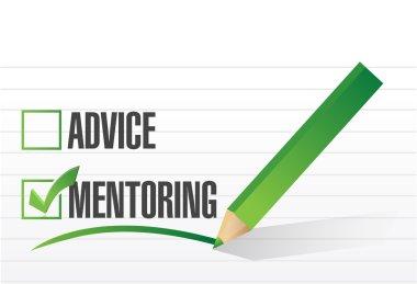 mentoring over advice illustration design