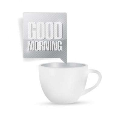 good morning coffee mug illustration design