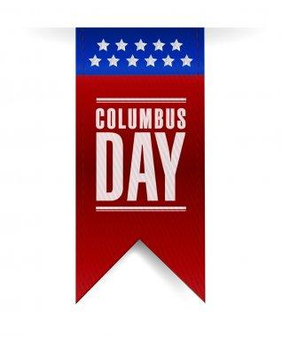 columbus day banner sign illustration design