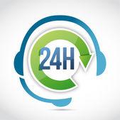 24 hours customer support illustration design