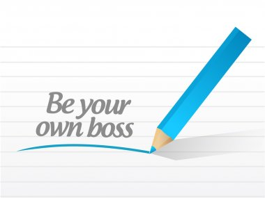 be your own boss message illustration design