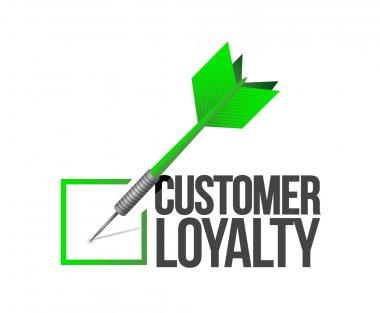 customer loyalty dart check mark illustration