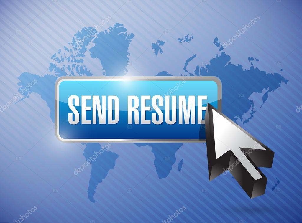 send resume button and cursor illustration — Stock Photo ...