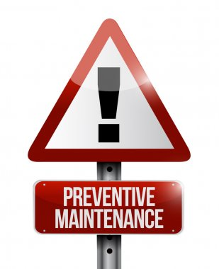 preventive maintenance sign illustration design