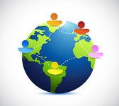 globe people network communication illustration