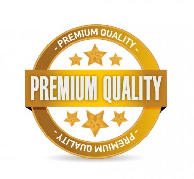 premium quality seal illustration design