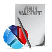 bohatství řízení obchodní ilustrace design