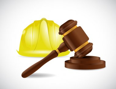 Construction law illustration design