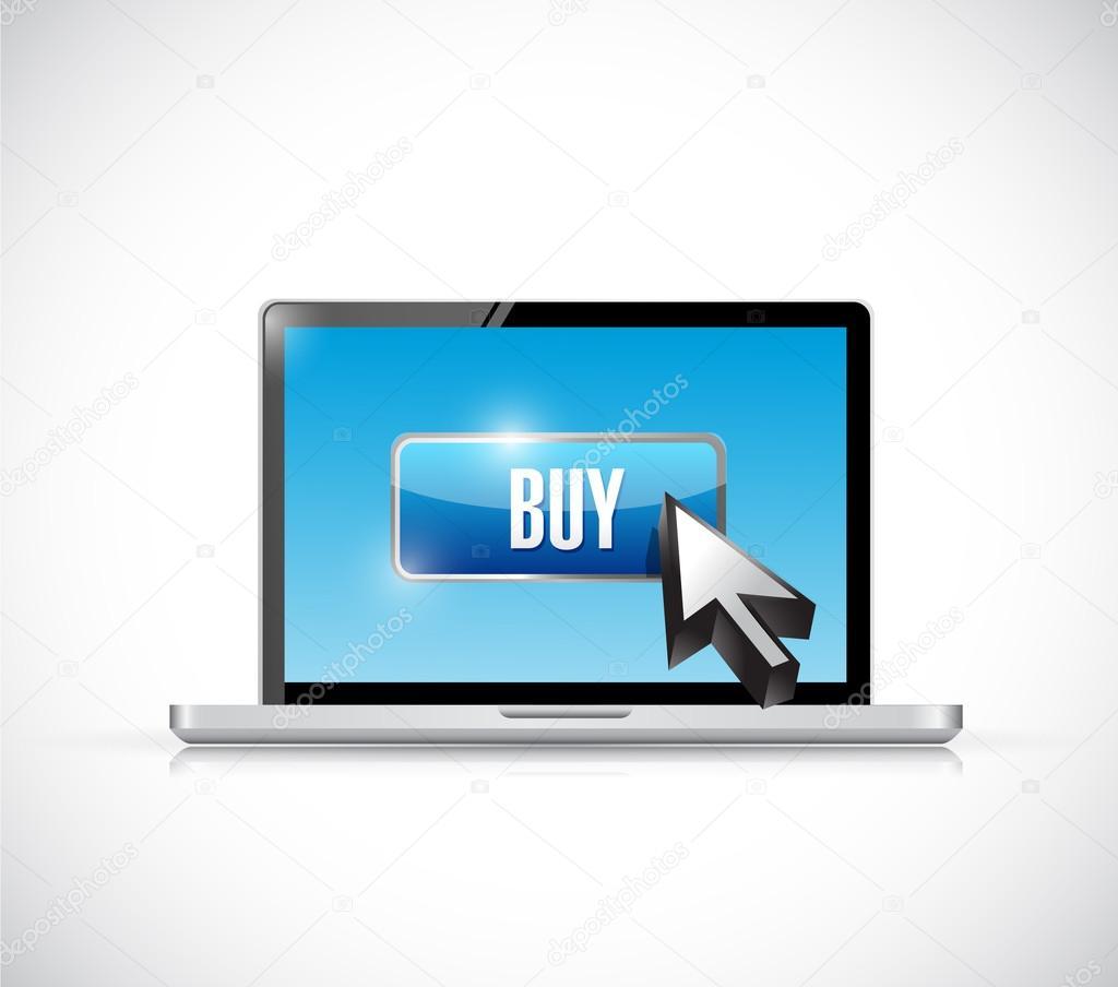 acheter bouton sur un ordinateur portable design illustration photographie alexmillos 44786163. Black Bedroom Furniture Sets. Home Design Ideas