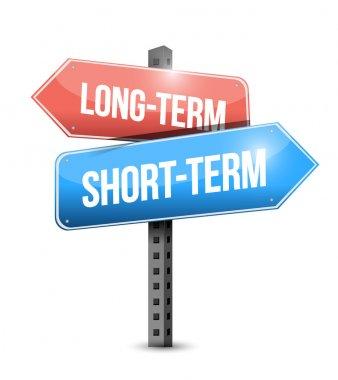 long-term, short-term road sign illustration