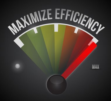 maximize efficiency marker illustration design