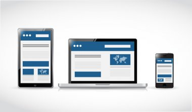 web responsive electronics. web design