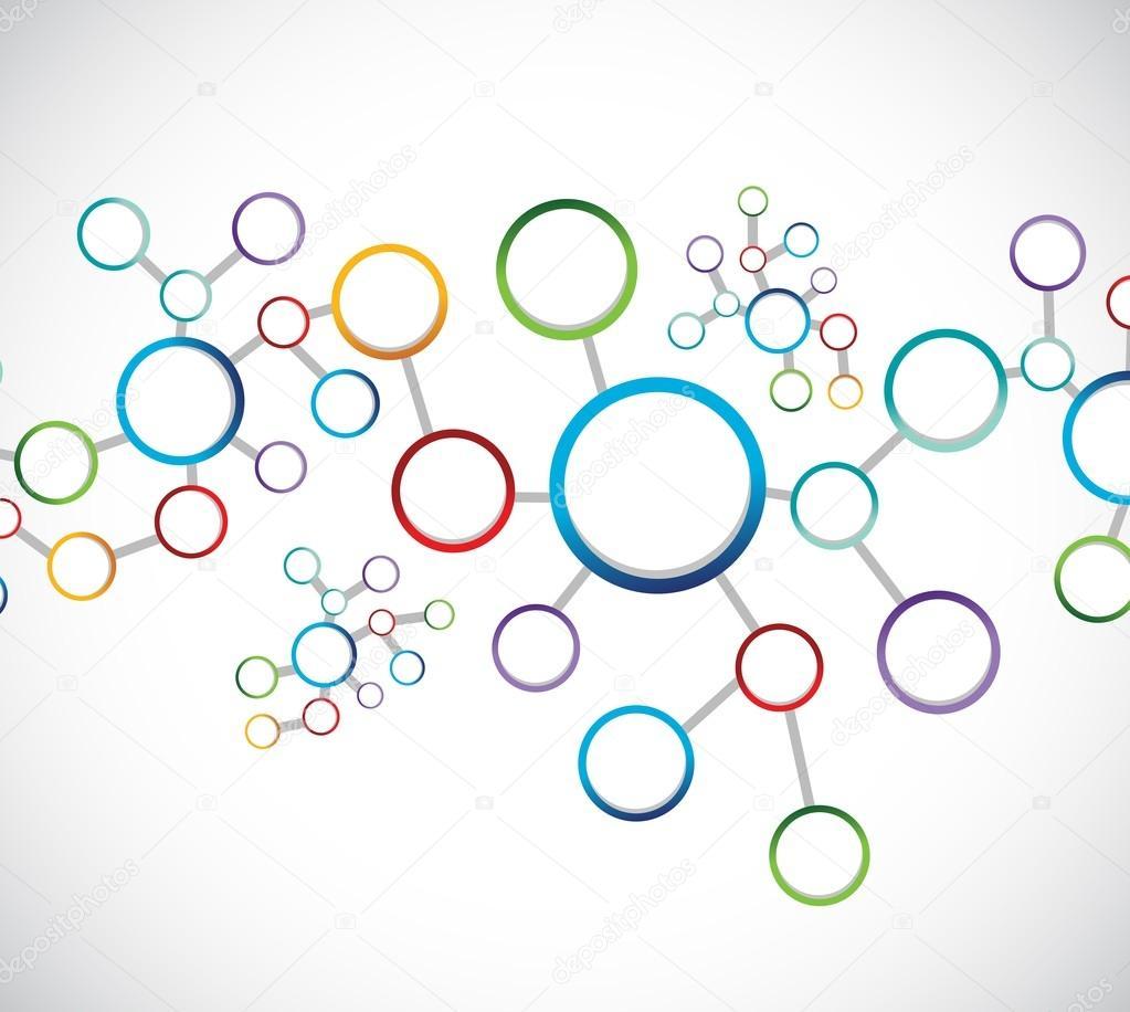 Verbindung Diagramm Abbildung Netzwerkdesign — Stockfoto ...