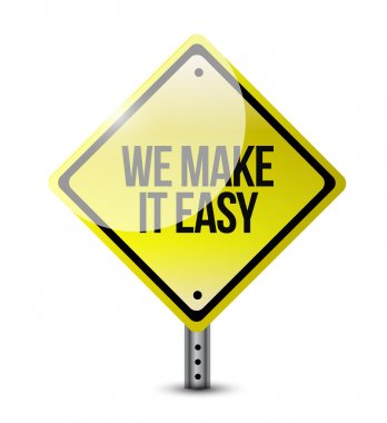 we make it easy sign post illustration design